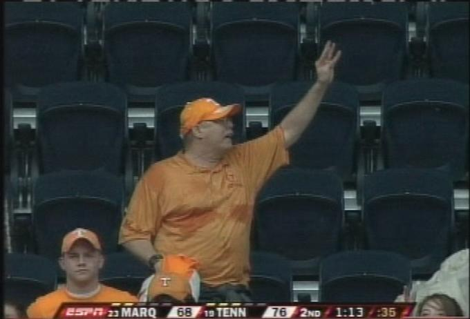 This Sweaty Vol Fan Was Outworking Wayne Chism Tonight