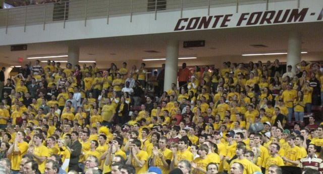 The BC Student Section Didn't Have a Lot To Cheer About