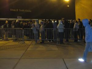 The line outside the door