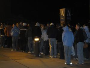 Tar Heel fans turning up after their disappointing performance at GameDay